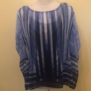 Ruby Rd. Blue Top, Size PL